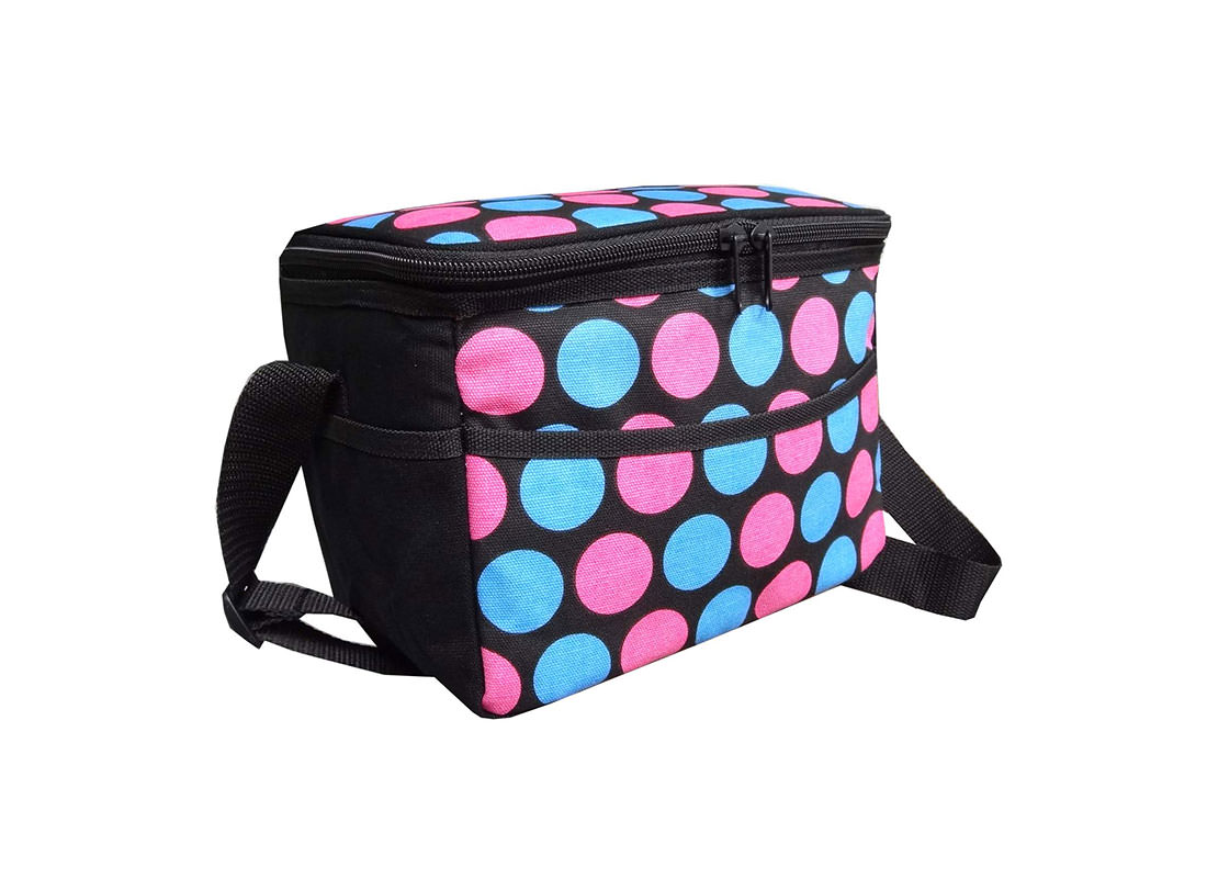 Dotted Canvas Cooler Bag side
