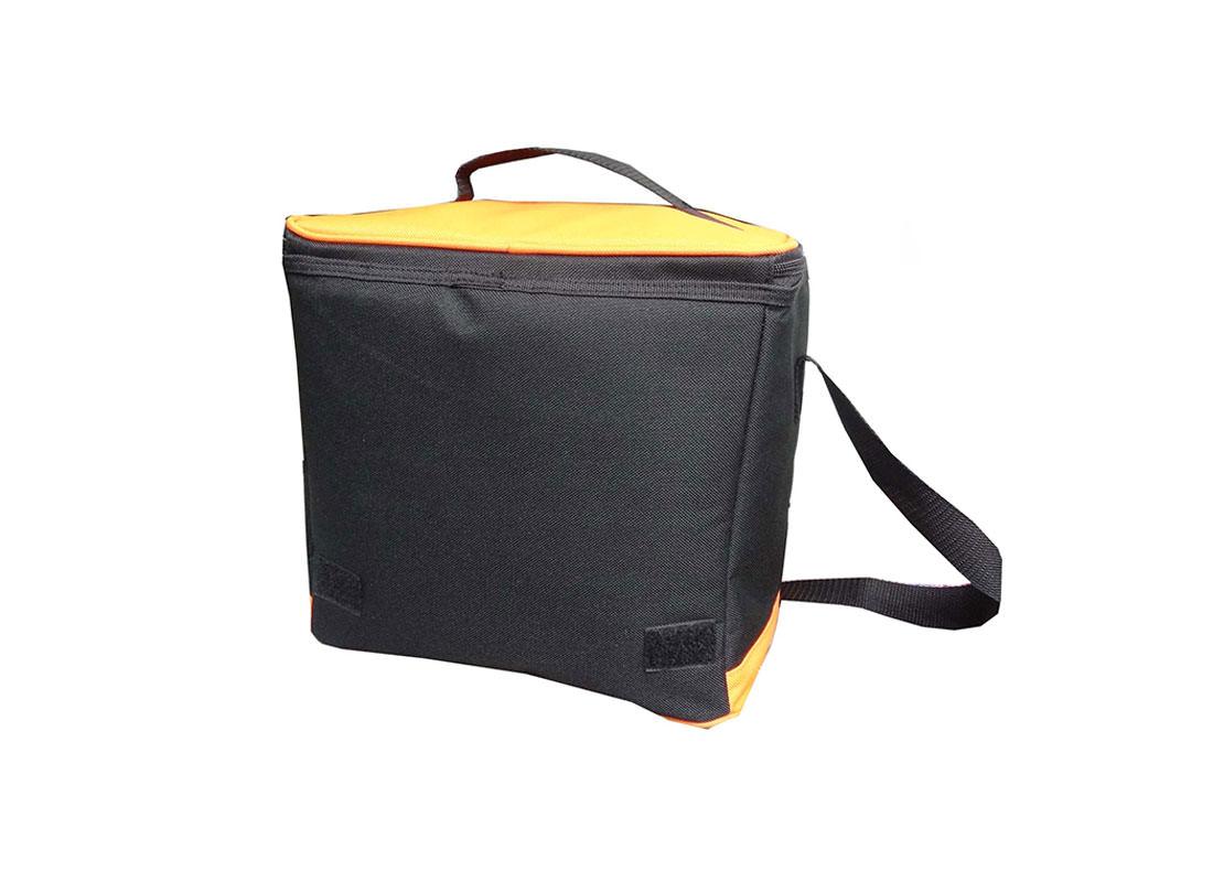 Insulated Cooler Bag in Orange & black back