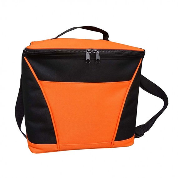 Insulated Cooler Bag in Orange & Black