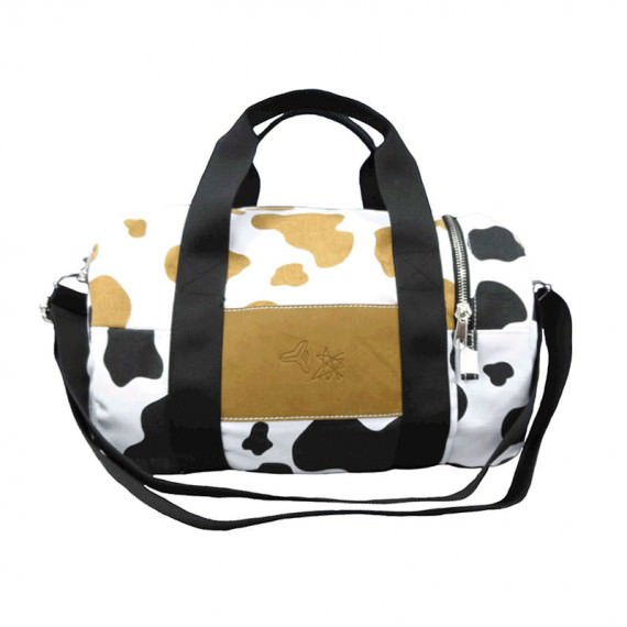 Cow Print Duffel Bag