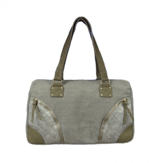 Canvas Boston Tote Bag