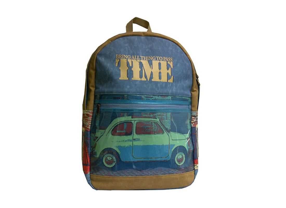 Vintage Car Print Backpack