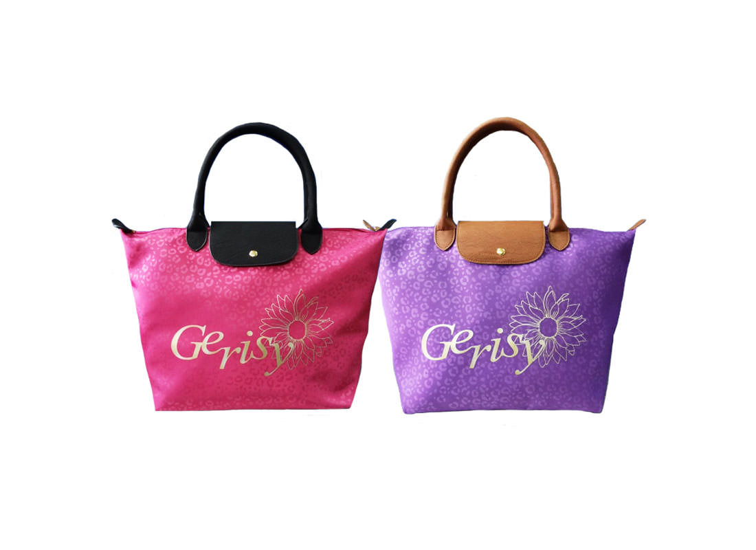 Short Handle Tote Bag with Leopard Pattern