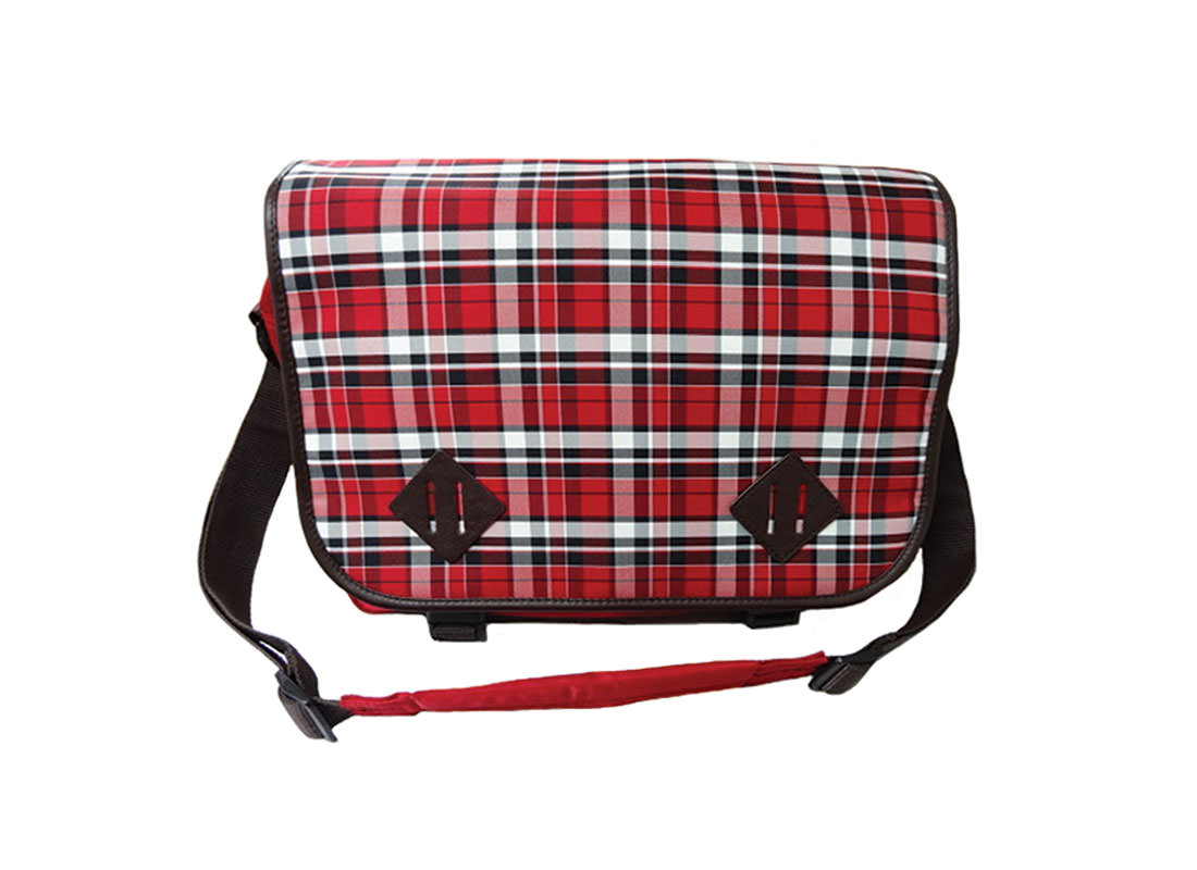 Plaid Messenger Bag