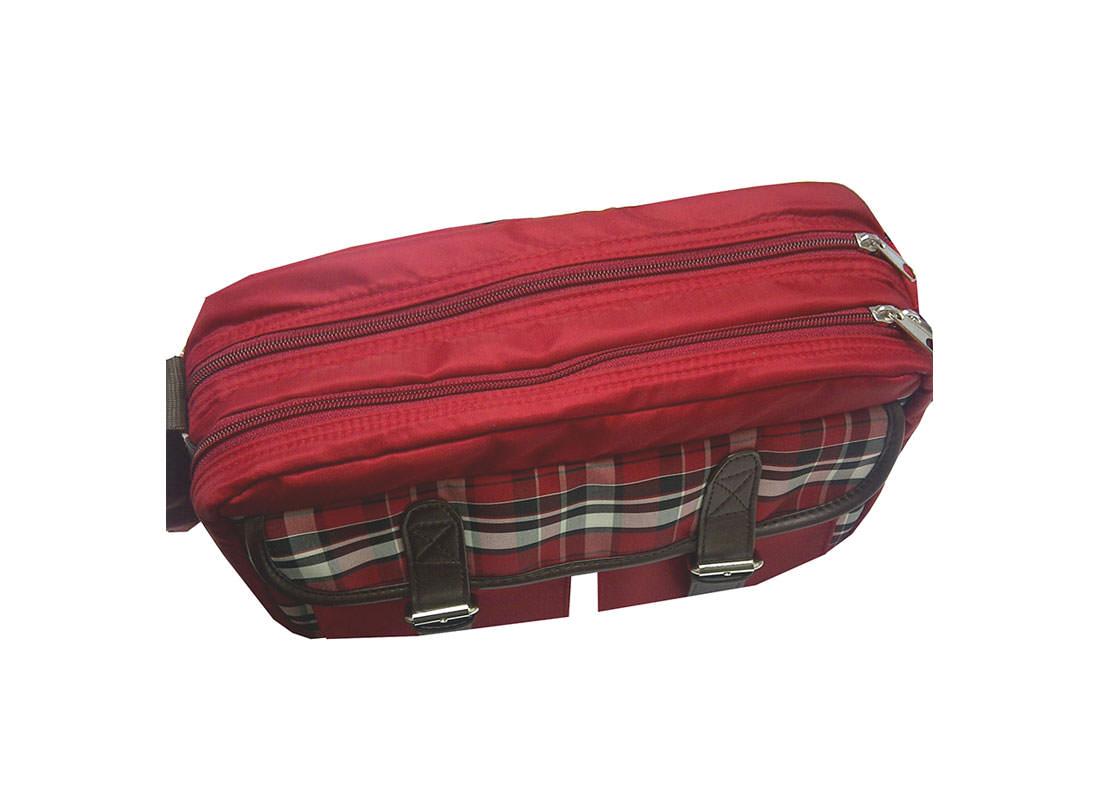 Plaid Shoulder bag Top