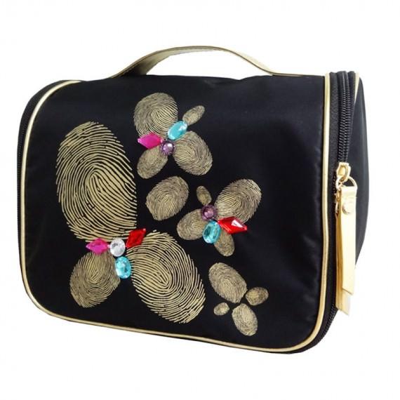 Fingerpaint Pattern Cosmetic Bag