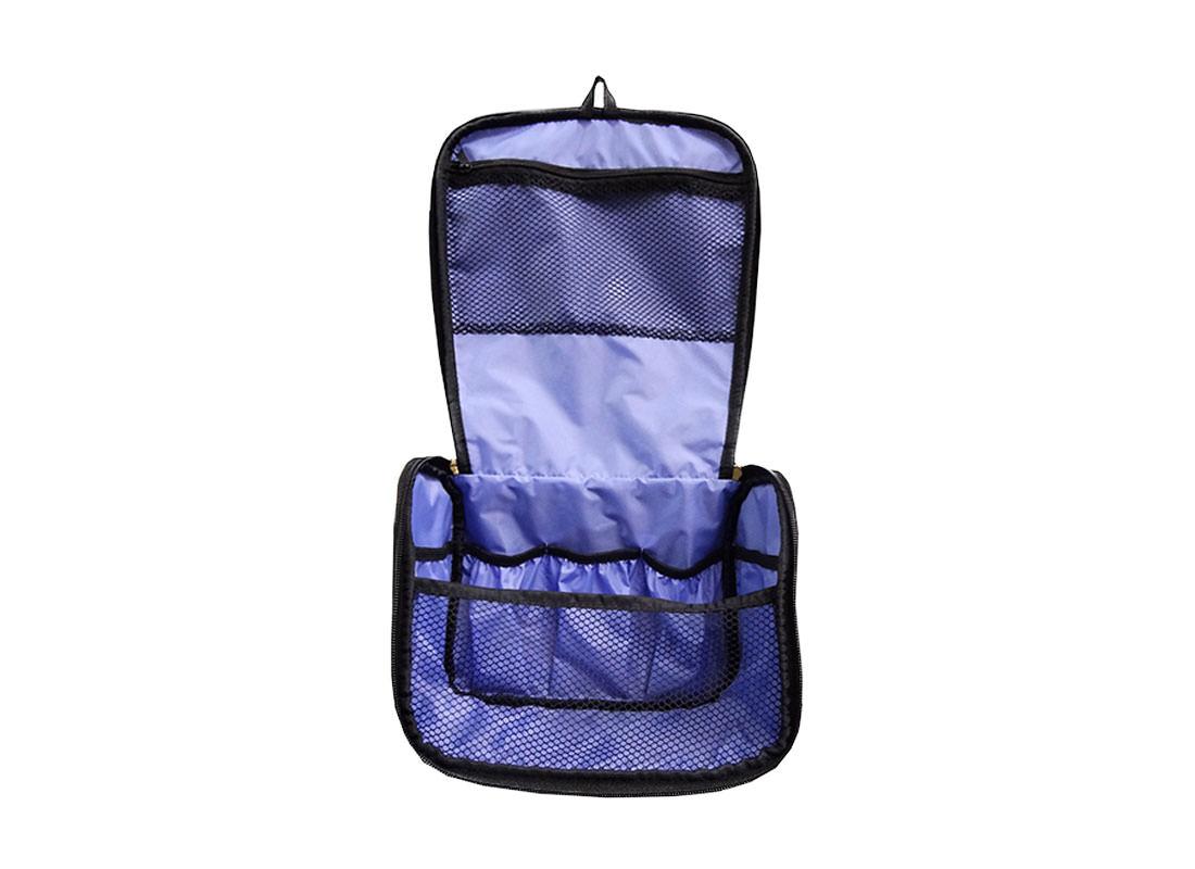 Fingerpaint Pattern Cosmetic Bag Open