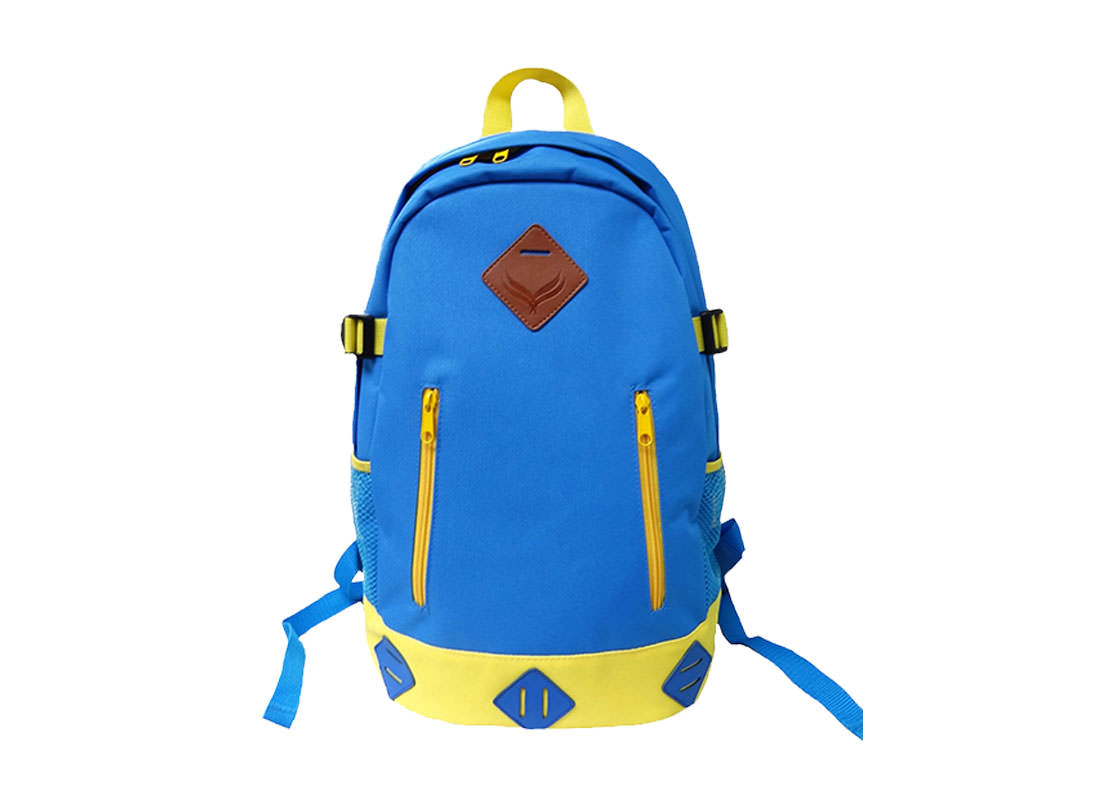 Sport Backpack in Sky Blue color with Yellow Trimming