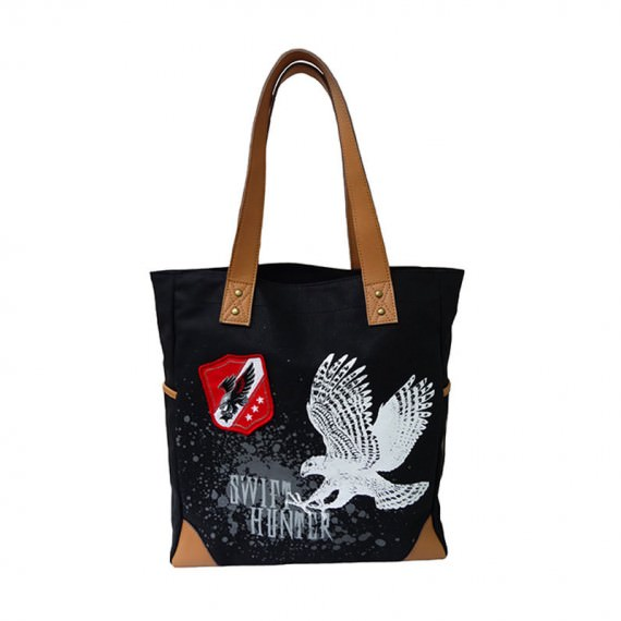 Eagle Print Canvas Tote Bag