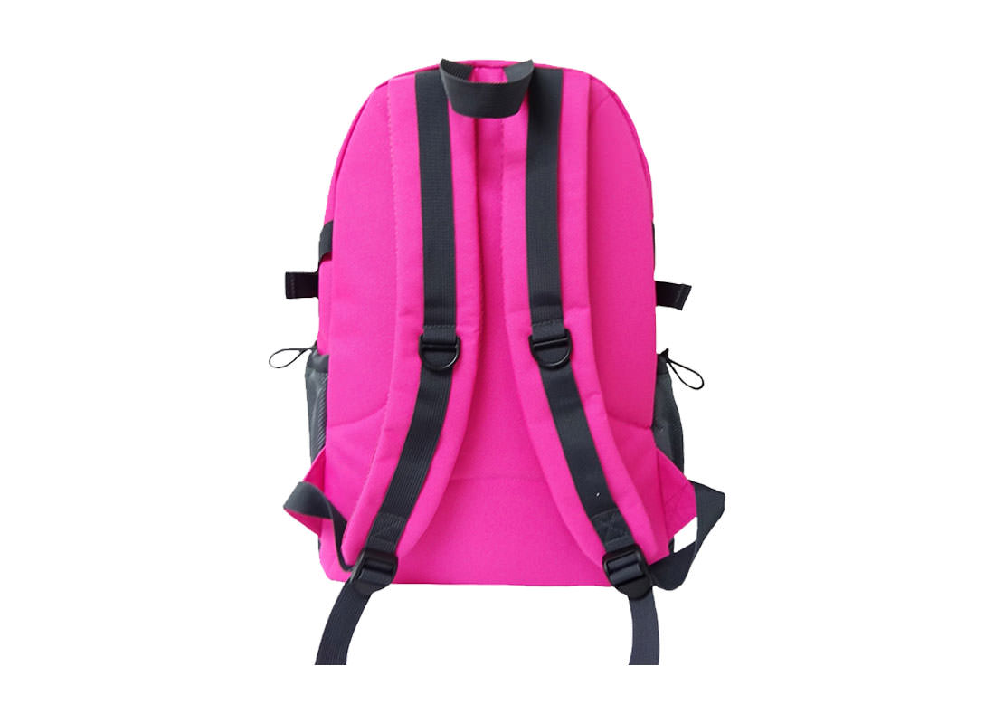 women sporty backpack in Pink back
