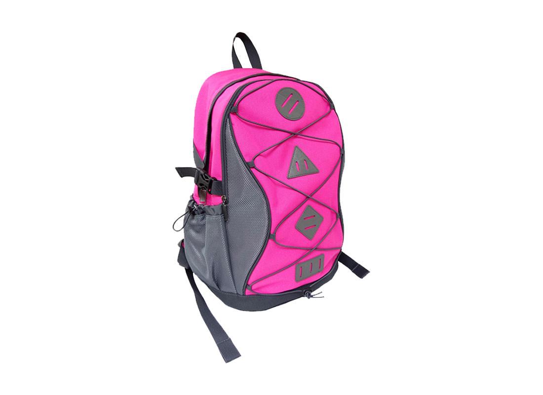 women sporty backpack in Pink L Side