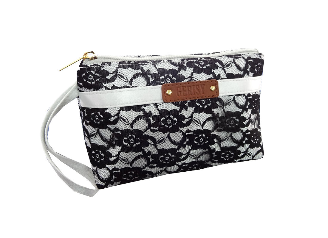 Black Lace Makeup Bag