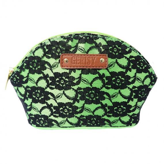 Black Lace Zipper Bag