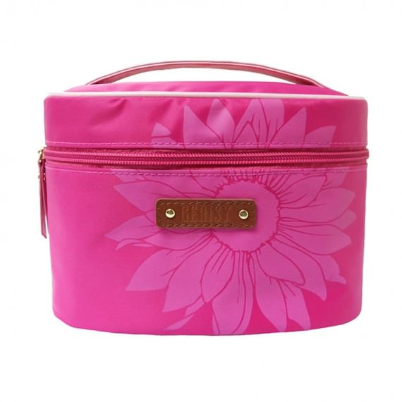 Daisy Flower Makeup Bag in Pink
