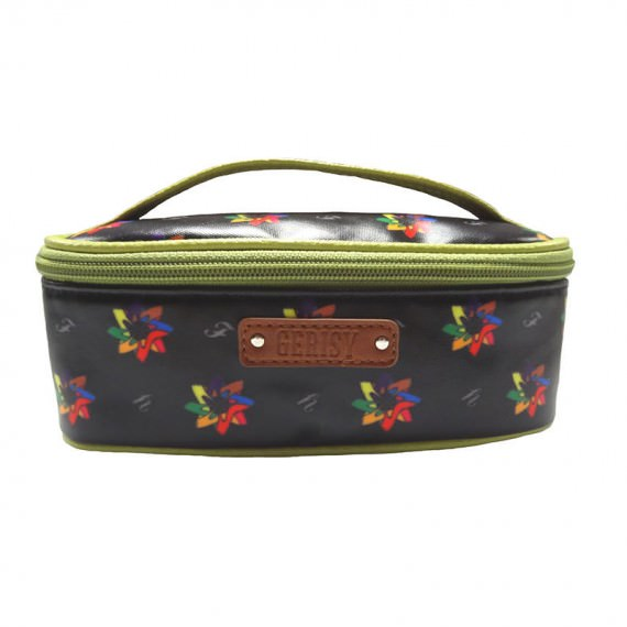 Kaleidoscopic Pattern Cosmetic Bag with Grab Handle