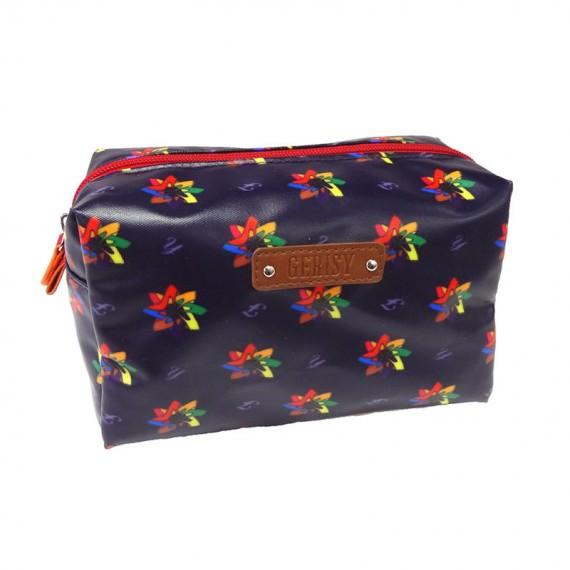 High-Heeled Shoe in Kaleidoscopic Pattern Cosmetic Bag
