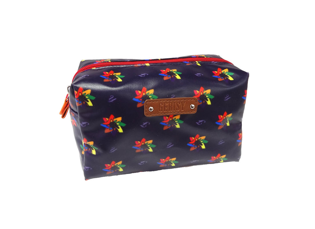 High-Heeled Shoe in Kaleidoscopic Pattern Cosmetic Bag