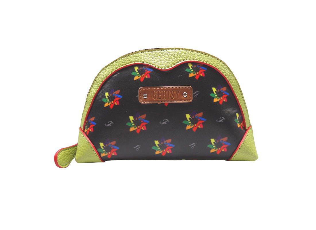 Small Zipper Purse with Kaleidoscopic Pattern
