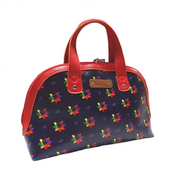 Small Tote with kaleidoscopic pattern
