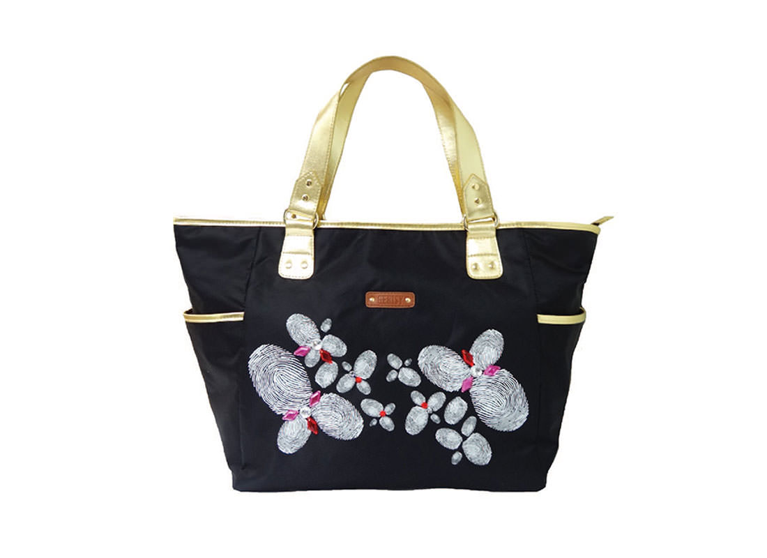 Tote Bag with Fingerprint Printing