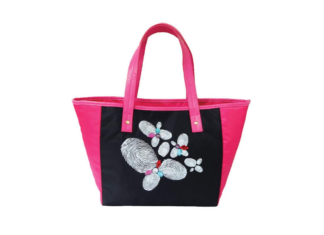 Tote Bag with Fingerprint flower printing