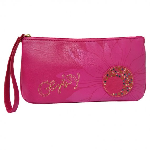 Zipper Long Pouch in Cherry Pink