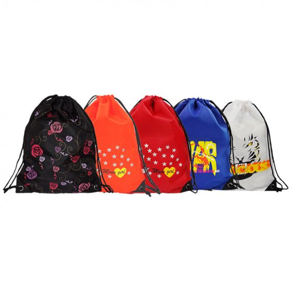 drawstring sport bag 5 pcs