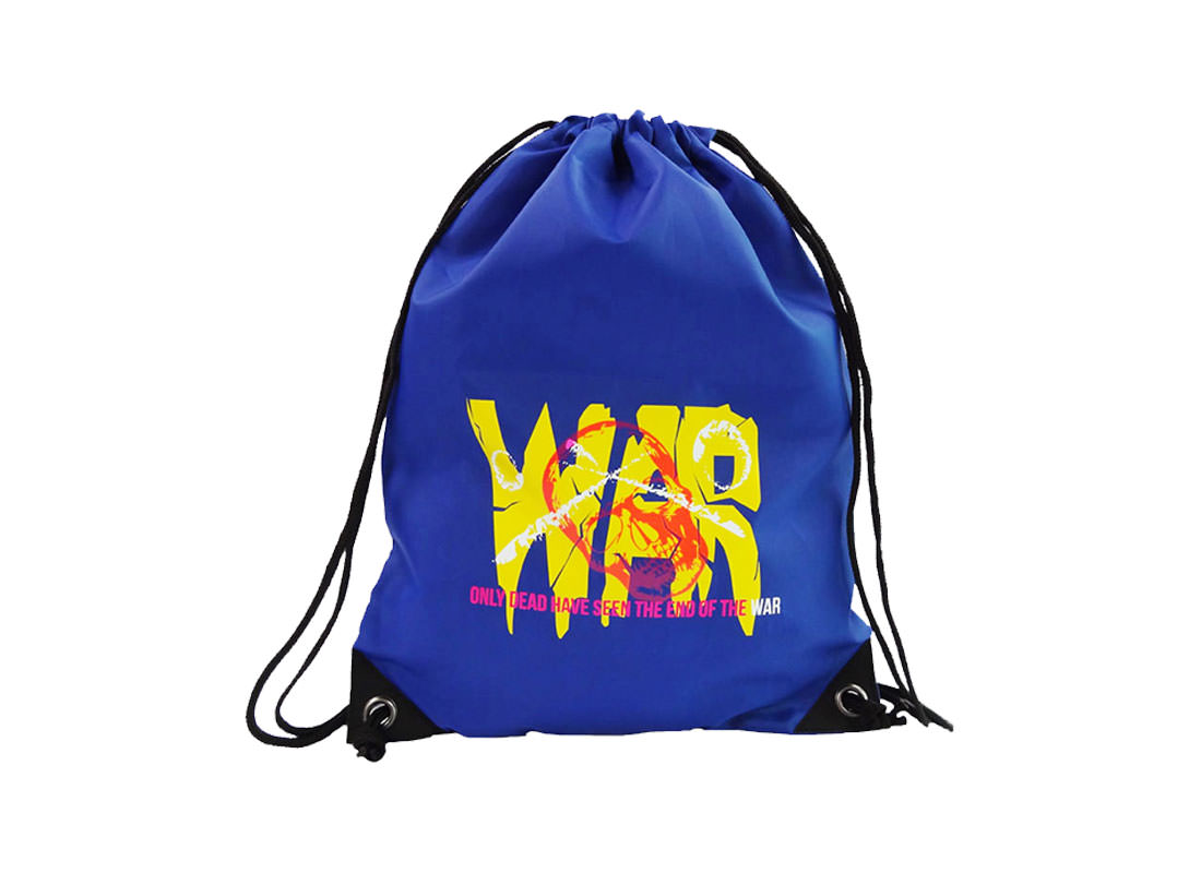drawstring sport bag with word