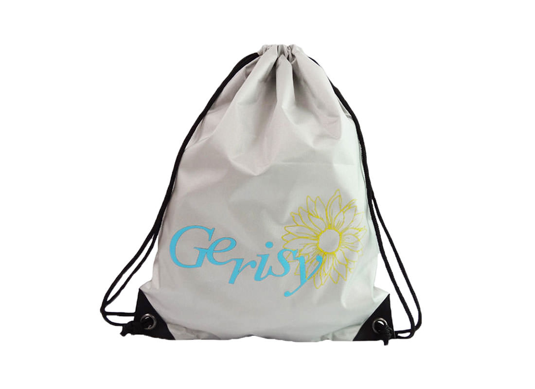 drawstring sport bag with gerisy logo printing