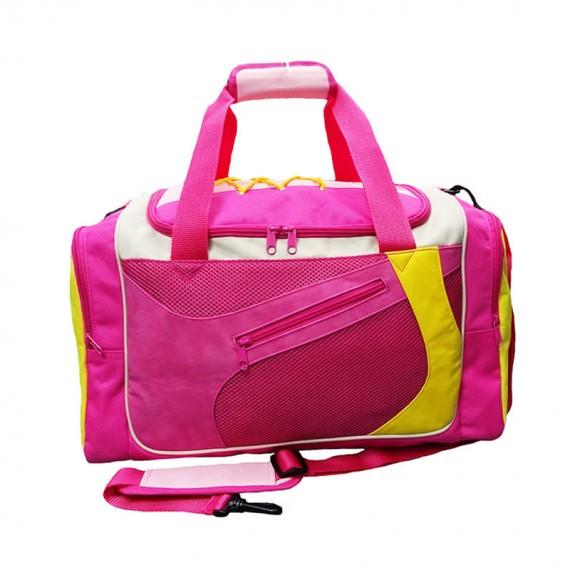 Pink Sport Bag with Shoe Pocket
