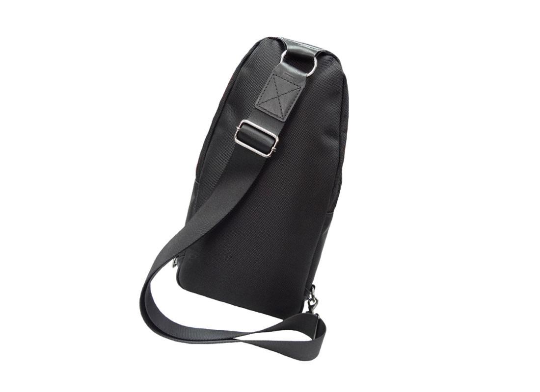 Black Sling Bag for men side back