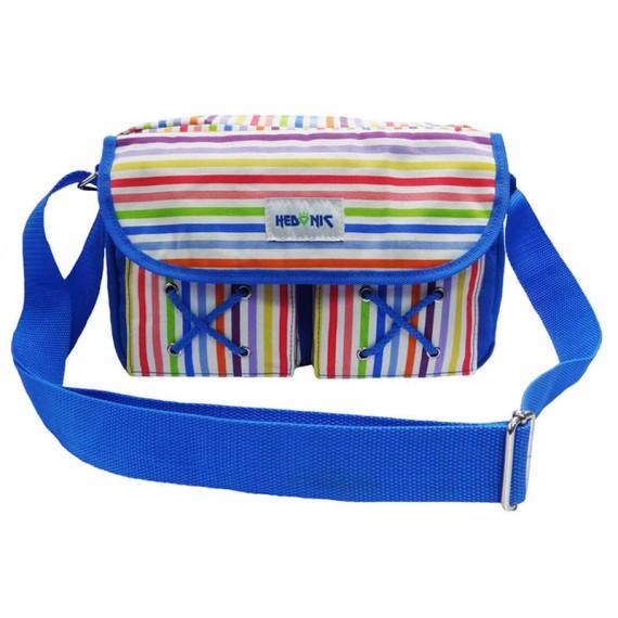 colorful stripes shoulder bag