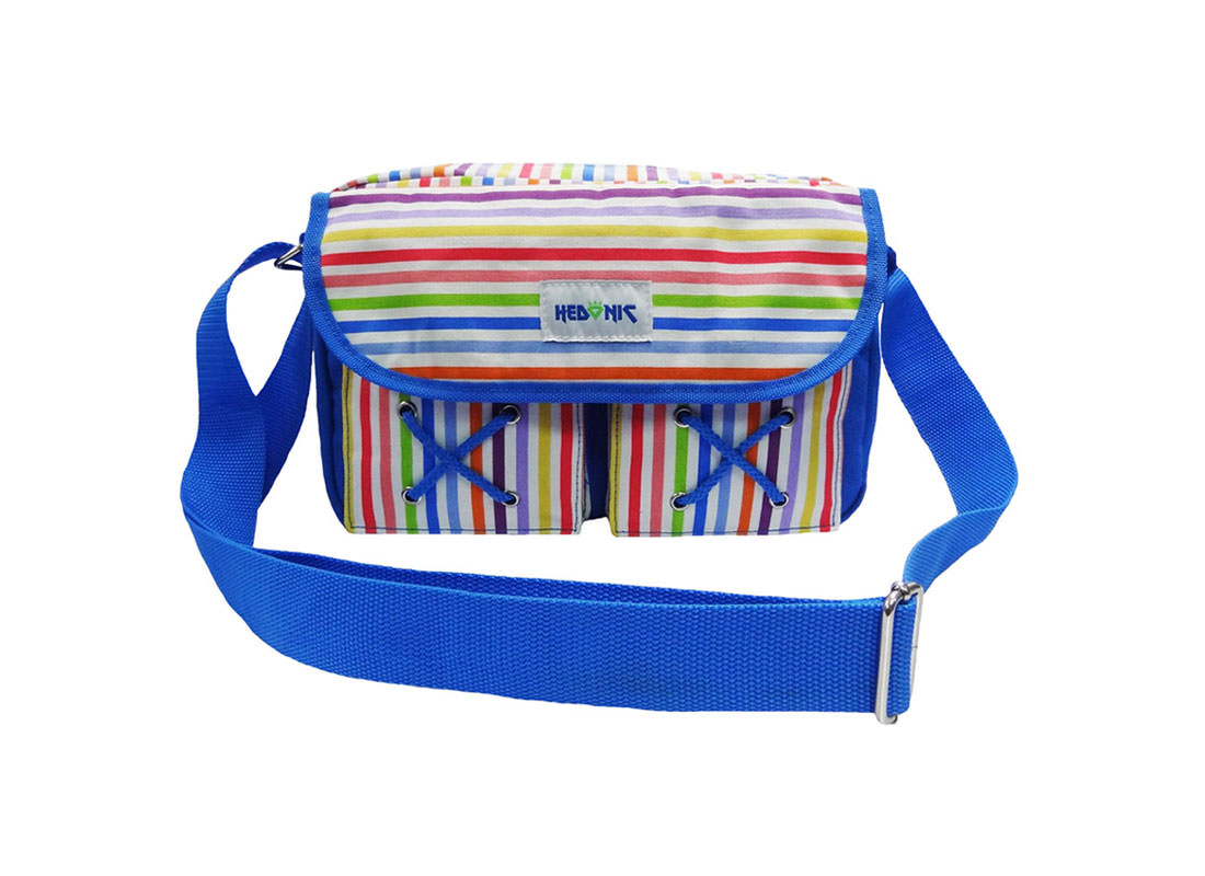 colorful stripes shoulder bag