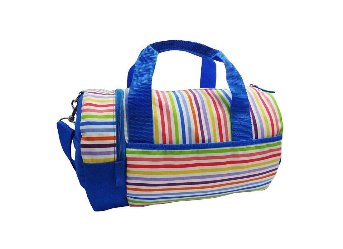 Colorful Striped Duffel Bag Back
