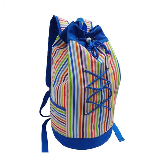 Colorful Striped Drawstring duffel Bag