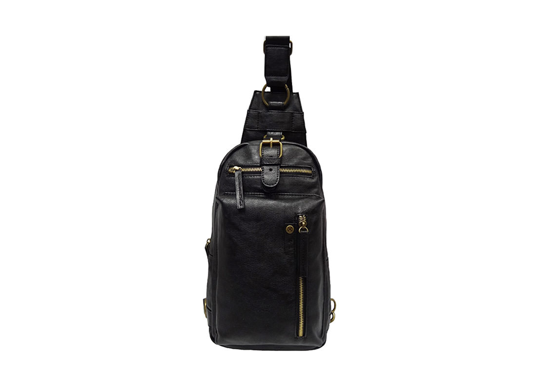 faux leather sling bag for men