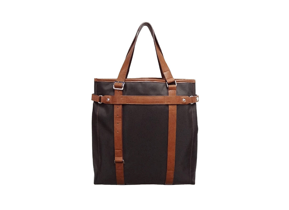 Black Nylon Tote for Men