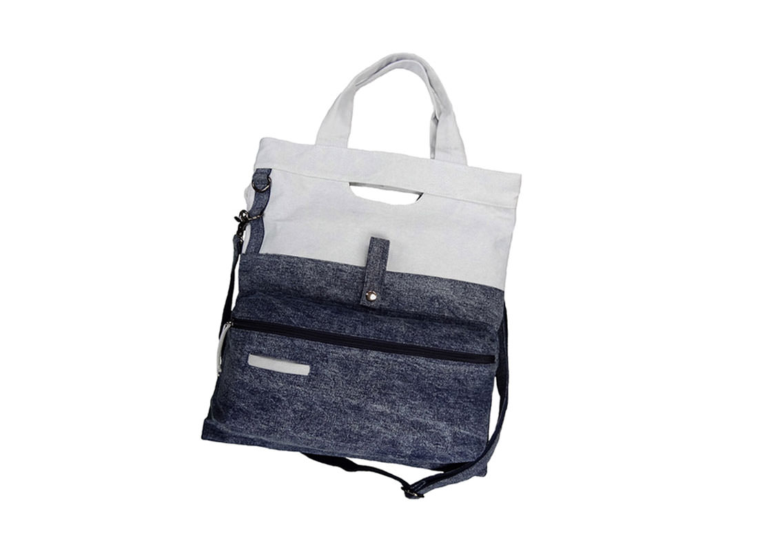Washed Denim Tote Bag for Men