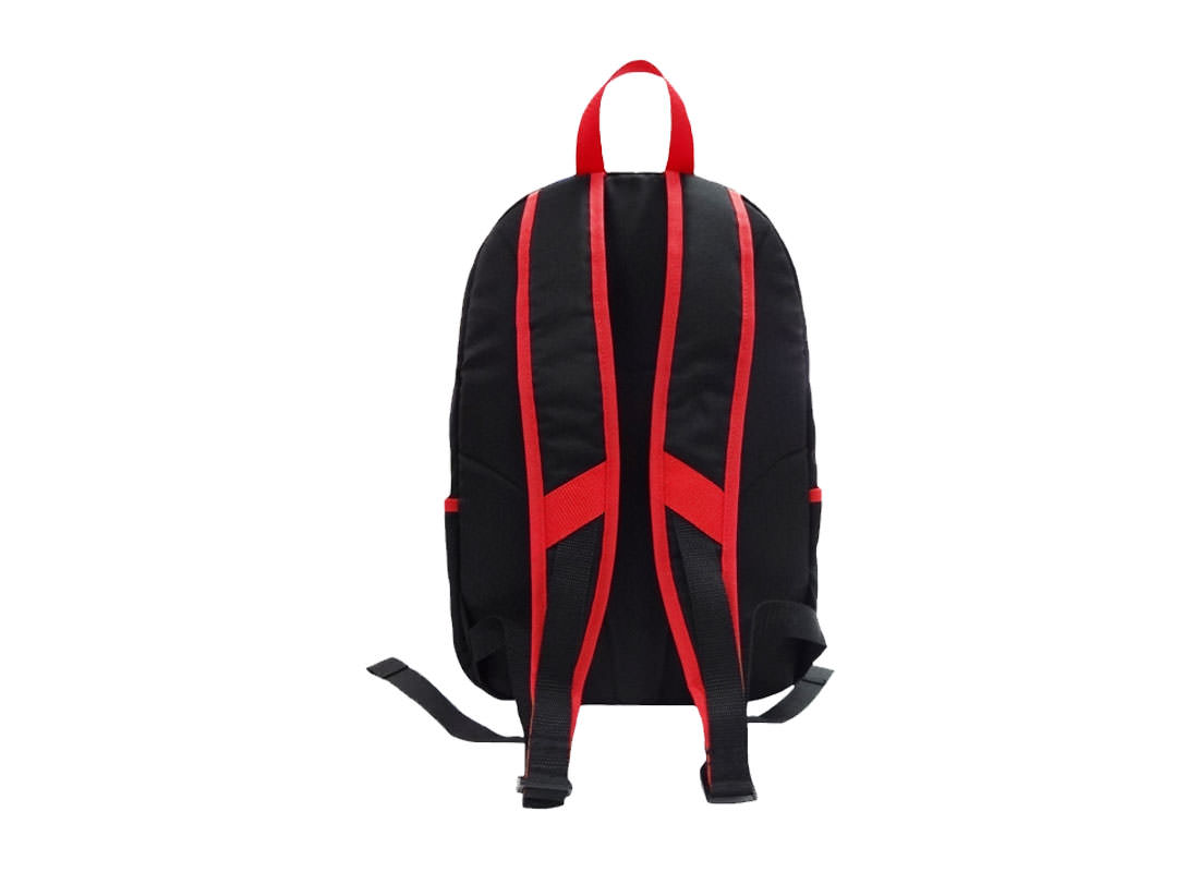 Black PU Leather Backpack with Car & Knife Printed bacl