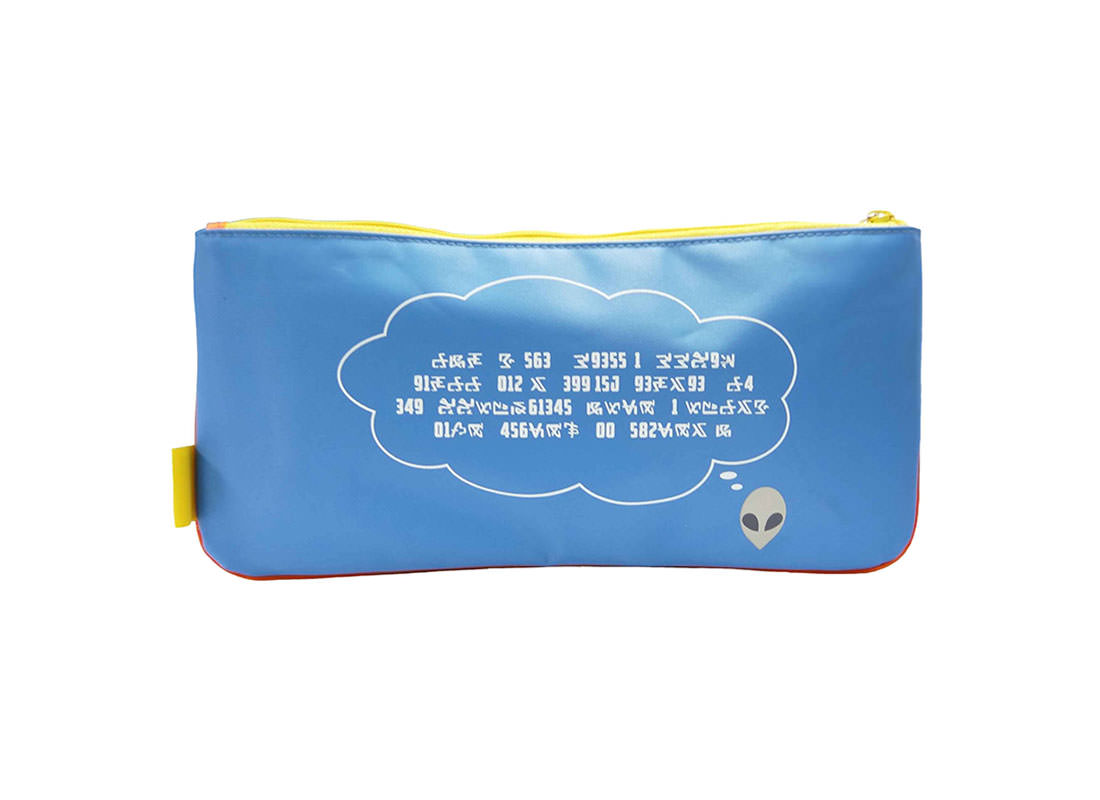 Large Pencil Case with Alien Printing Back