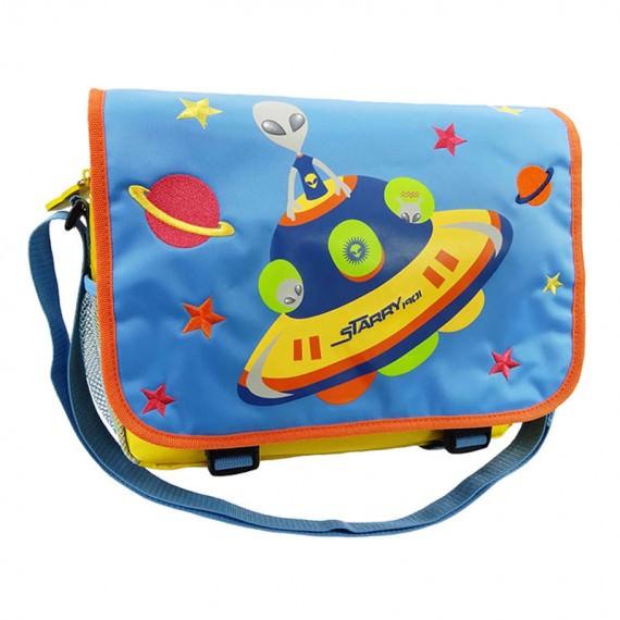 Alien Messenger Bag with Flap for Children