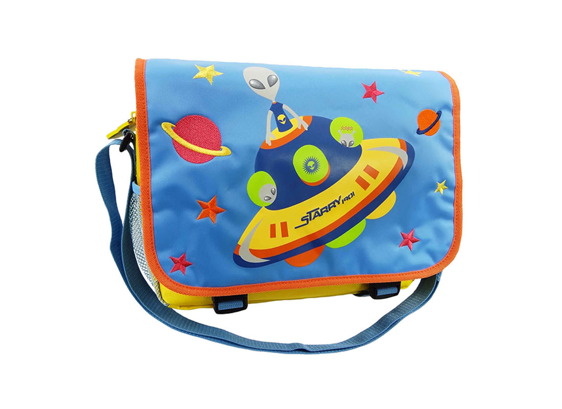 Alien Messenger Bag with Flap for Children