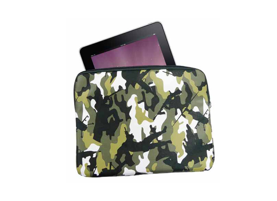 iPad Pouch with Camouflage Pattern with sample