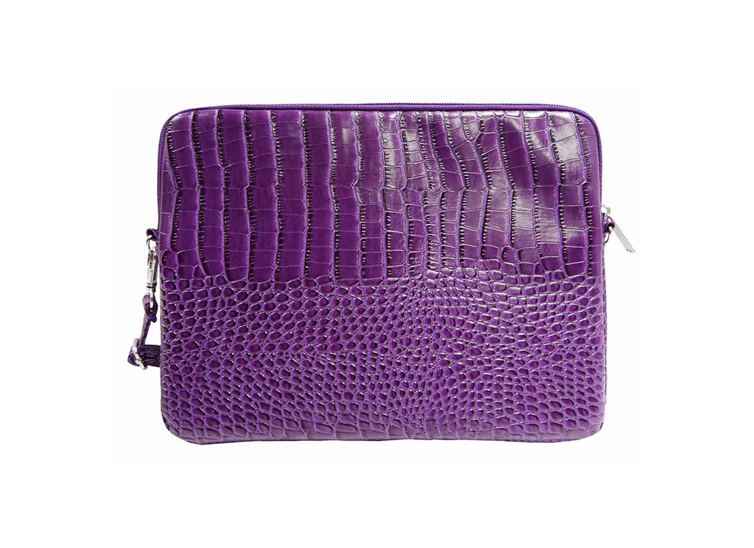 iPad Pouch with Shoulder Strap Crocodile Pattern back