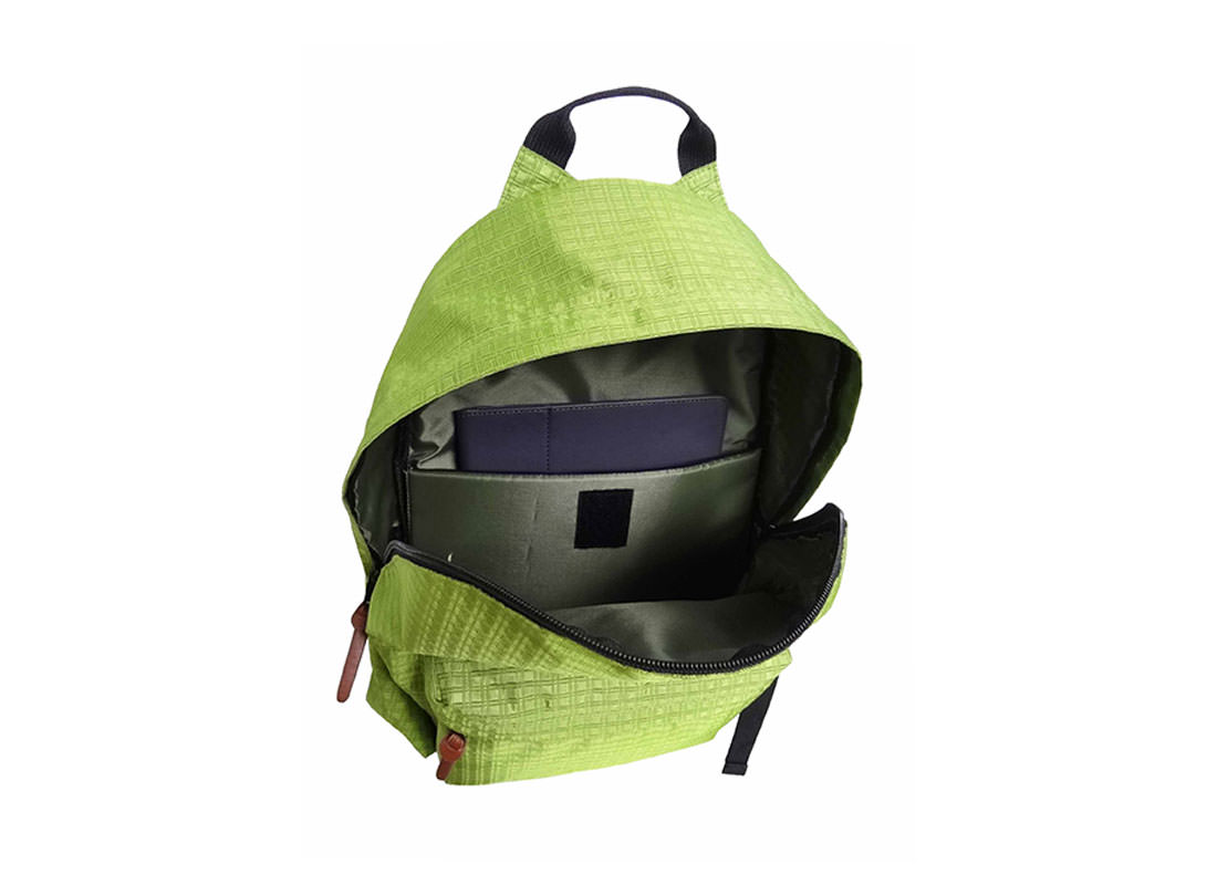 Rip-Stop Backpack with iPad Compartment Open