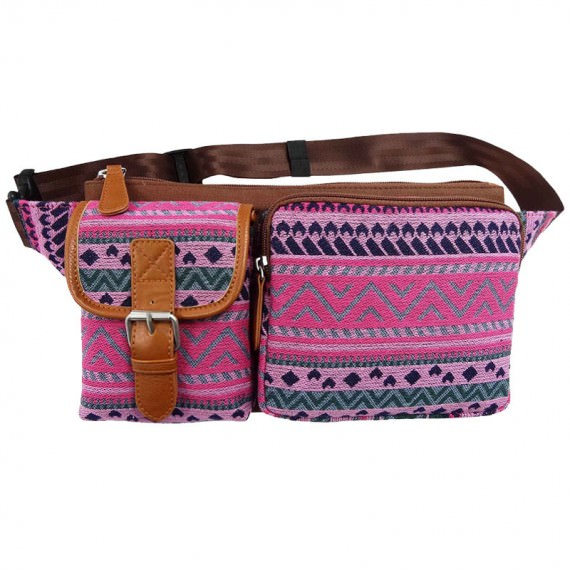 Folk Style Pattern Waist Pack for Women