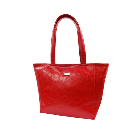 Simple Elegance red Tote handbag