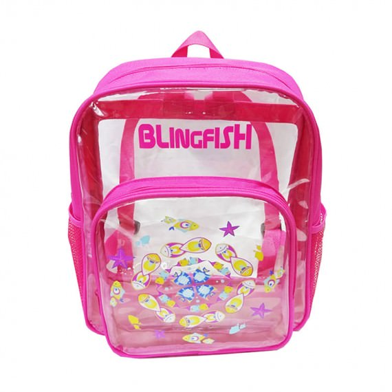 Transparent Backpack with Fish print for Children