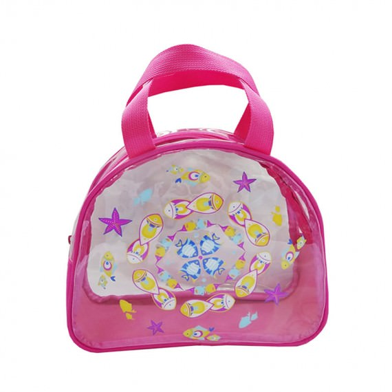 Transparent Bag with Fish Print for Children