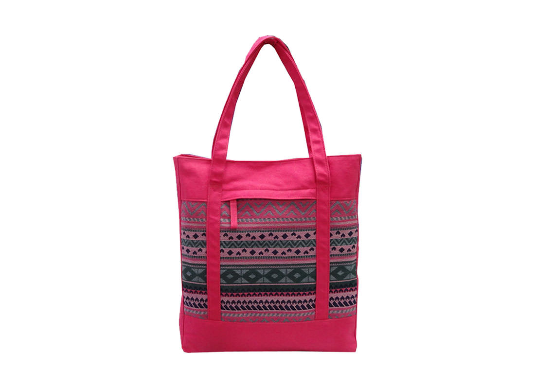 Folk Pattern Tote Bag